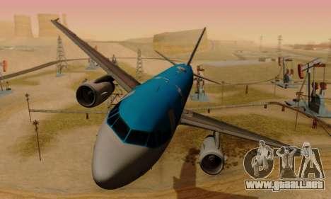 Airbus A319 KLM para GTA San Andreas left