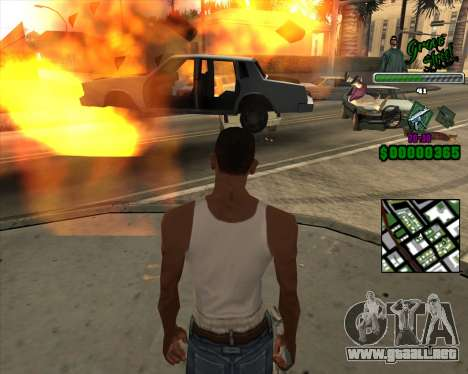C-Hud Grove Street para GTA San Andreas tercera pantalla