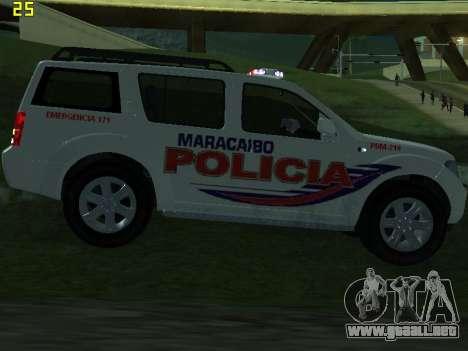 Nissan Pathfinder Polimaracaibo para GTA San Andreas interior