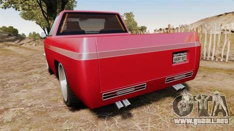 Rancher Lowride para GTA 4 Vista posterior izquierda