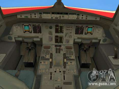 Airbus A320 Avianca Columbia para la vista superior GTA San Andreas