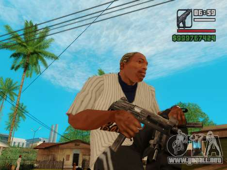 La subametralladora UZI para GTA San Andreas