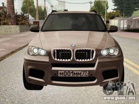 BMW X5M E70 2010 para GTA San Andreas vista posterior izquierda