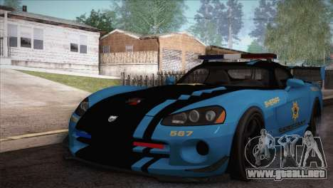 Dodge Viper SRT 10 ACR Police Car para GTA San Andreas