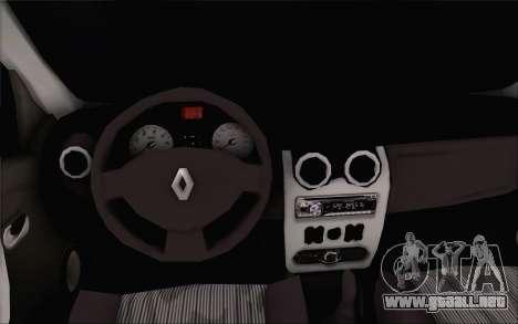 Renault Logan para GTA San Andreas vista posterior izquierda