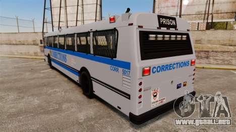Brute Bus Corrections [ELS] para GTA 4 Vista posterior izquierda