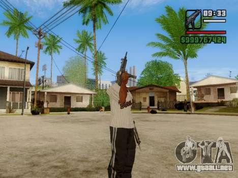 La subametralladora UZI para GTA San Andreas octavo de pantalla