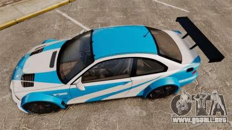 BMW M3 GTR 2012 Most Wanted v1.1 para GTA 4 visión correcta