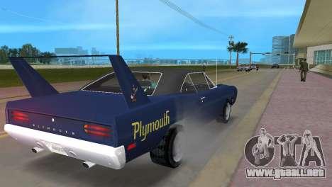 Plymouth Superbird para GTA Vice City visión correcta