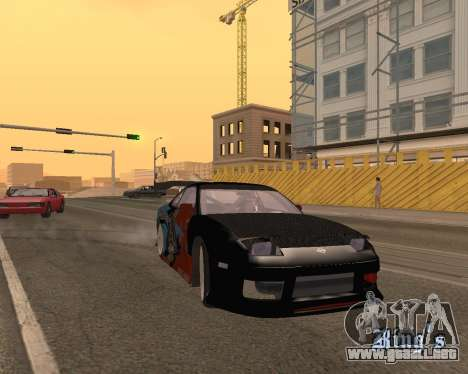 Nissan 150sx Evil Empire para GTA San Andreas vista hacia atrás