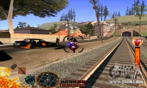C-HUD Fire para GTA San Andreas sucesivamente de pantalla