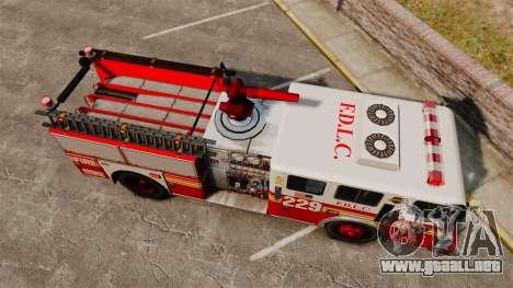 Fire Truck v1.4A FDLC [ELS] para GTA 4 visión correcta