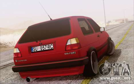 Volkswagen Golf Mk 2 para GTA San Andreas left