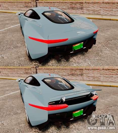 Jaguar C-X75 2014 [EPM] para GTA 4 vista superior