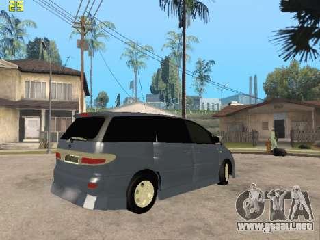Toyota Estima Altemiss 2wd para visión interna GTA San Andreas