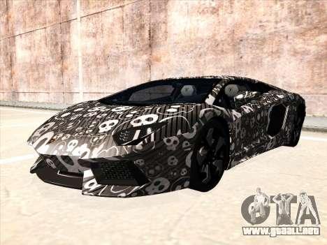 Lamborghini Aventador LP700-4 2013 para GTA San Andreas vista posterior izquierda