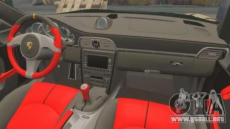Porsche 911 GT2 RS 2012 BLOB para GTA 4 vista interior