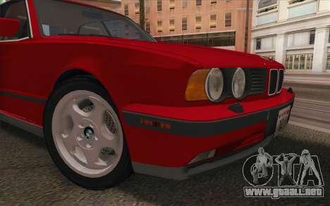 BMW M5 E34 1991 NA-spec para GTA San Andreas vista hacia atrás