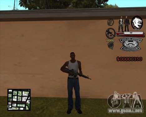 C-HUD Bikers para GTA San Andreas tercera pantalla