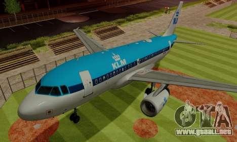 Airbus A319 KLM para la vista superior GTA San Andreas