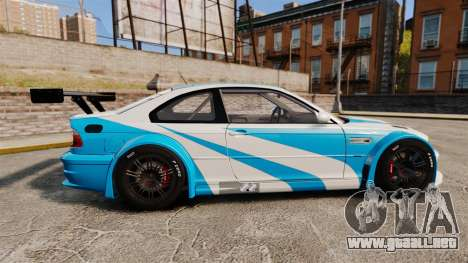 BMW M3 GTR 2012 Most Wanted v1.1 para GTA 4 left