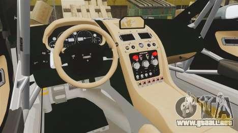 Aston Martin V12 Zagato para GTA 4 vista lateral