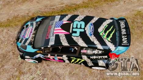 Ford Fiesta RS [Hoonigan] para GTA 4 visión correcta