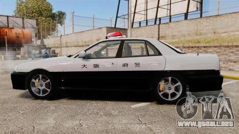 Nissan Skyline ER34 Police para GTA 4 left