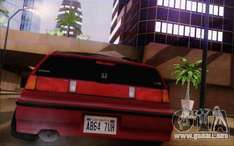 Honda CRX Low Gang para GTA San Andreas left