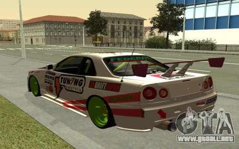 Nissan Skyline R-34 RDS para GTA San Andreas left