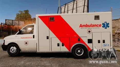 Brute Speedo RLMS Ambulance [ELS] para GTA 4 left
