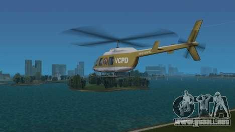 Helicóptero de la policía de GTA VCS para GTA Vice City visión correcta