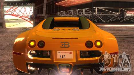 Bugatti Veyron 2009 para visión interna GTA San Andreas