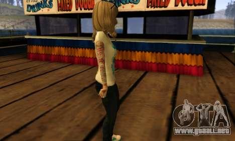Catrina Skin para GTA San Andreas sucesivamente de pantalla