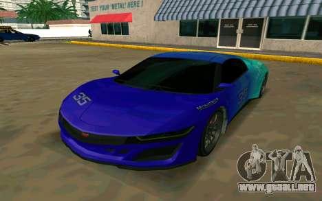 GTA V Dinka Jester para GTA San Andreas left