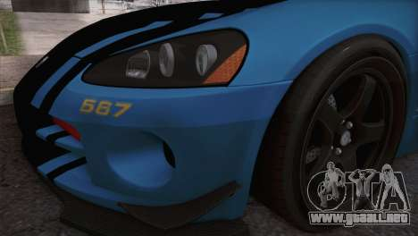 Dodge Viper SRT 10 ACR Police Car para la visión correcta GTA San Andreas