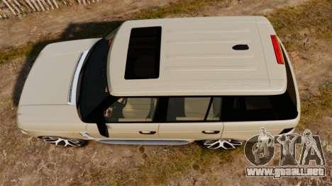 Range Rover Supercharger 2008 para GTA 4 visión correcta