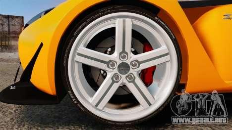 Aston Martin V12 Zagato para GTA 4 vista hacia atrás