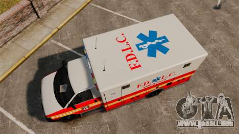 Brute Speedo FDLC Ambulance [ELS] para GTA 4 visión correcta