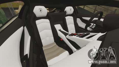 Lamborghini Aventador LP700-4 2012 [EPM] Miku 2 para GTA 4 vista lateral