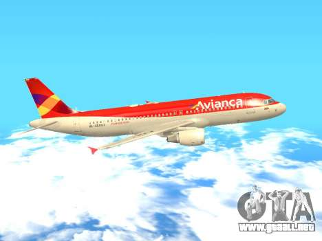 Airbus A320 Avianca Columbia para GTA San Andreas left