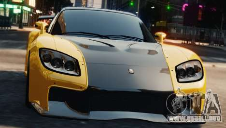 Mazda RX7 Veilside V8 para GTA 4 vista hacia atrás