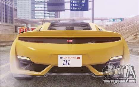 GTA V Dinka Jester IVF para visión interna GTA San Andreas