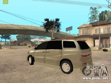 Toyota Estima Altemiss 2wd para GTA San Andreas vista posterior izquierda