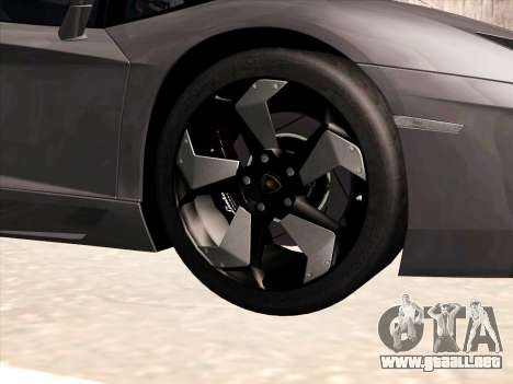 Lamborghini Aventador LP700-4 2013 para GTA San Andreas interior