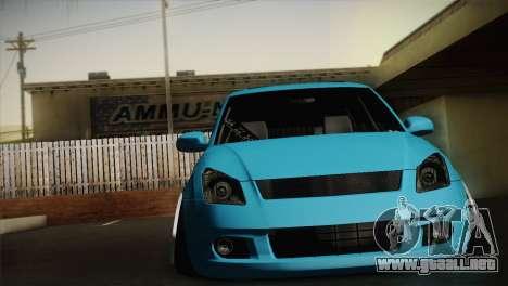 Suzuki Swift Hellaflush para GTA San Andreas left