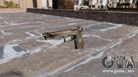 Auto-carga de la pistola Beretta 92FS para GTA 4 tercera pantalla