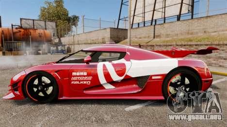 Koenigsegg One:1 para GTA 4 left
