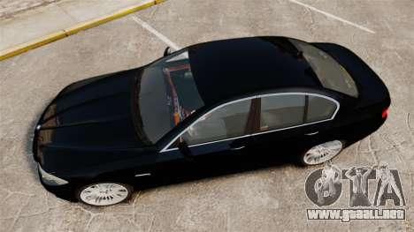 BMW M5 F10 2012 Unmarked Police [ELS] para GTA 4 visión correcta