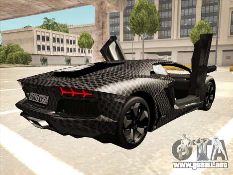 Lamborghini Aventador LP700-4 2013 para visión interna GTA San Andreas